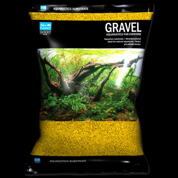 Písek AQUA EXCELLENT 1,6-2,2 mm žlutý 3kg