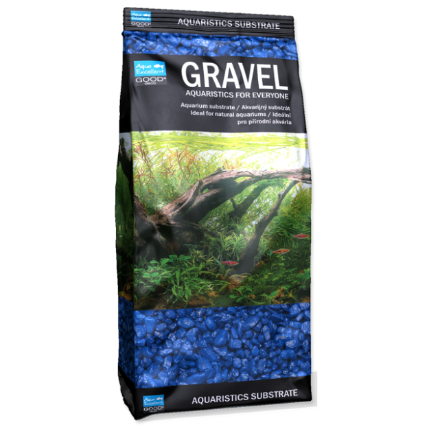 Písek AQUA EXCELLENT 3-6 mm modrý 1kg