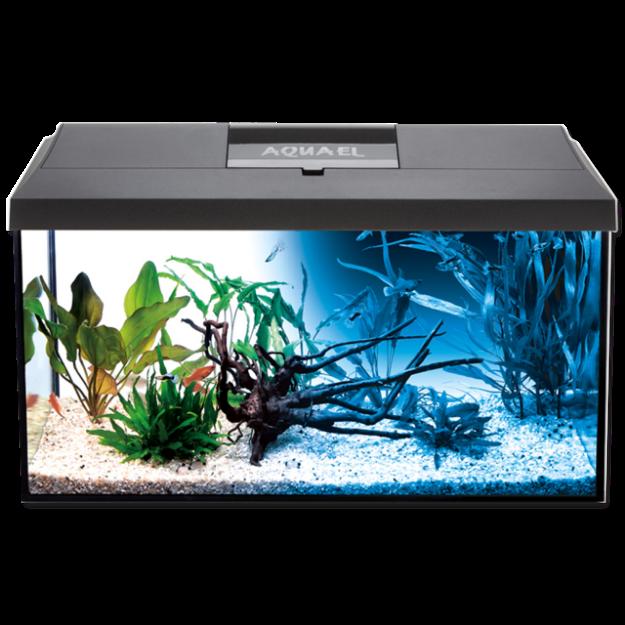 Akvárium setAQUAEL LEDDY PLUS D&N LED cerné 60 x 30 x 30 cm 54l